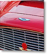 1960 Aston Martin Db4 Grille Emblem Metal Print