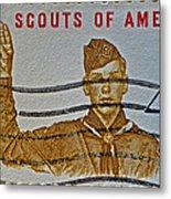 1960 Boy Scouts Stamp Metal Print