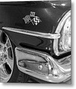 1960 Chevrolet Bel Air Bw 012315 Metal Print