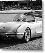1960 Chevrolet Corvette -0880bw Metal Print