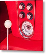 1960 Chevrolet Corvette Control Panel Metal Print