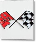 1960 Chevrolet Corvette Emblem Metal Print