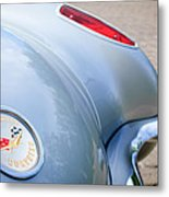 1960 Chevrolet Corvette Emblem - Taillight Metal Print by Jill Reger