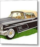 1960 Continental Convertible Metal Print