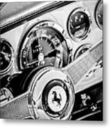 1960 Ferrari 250 Gt Cabriolet Pininfarina Series II Steering Wheel Emblem -1319bw Metal Print