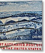 1960 First Automated Post Office Stamp Providence Rhode Island Metal Print