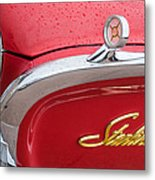 1960 Ford Galaxie Starliner Hood Ornament - Emblem Metal Print