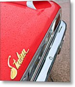 1960 Ford Galaxie Starliner Taillight Emblem Metal Print