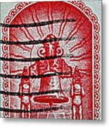1960 Mexican Independence Stamp Metal Print