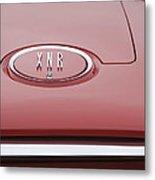 1960 Plymouth Xnr Ghia Roadster  Emblem Metal Print by Jill Reger