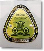 1960 Porsche 356 B 1600 Super Roadster Emblem Metal Print