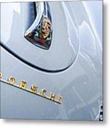 1960 Porsche 356 B 1600 Super Roadster Hood Emblem Metal Print by Jill Reger