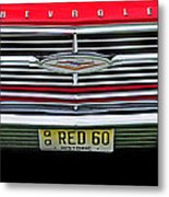 1960 Red Chevy Metal Print