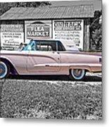 1960 Thunderbird Bw Metal Print