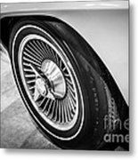 1960's Chevrolet Corvette C2 Spinner Wheel Metal Print by Paul Velgos