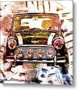 1960s Mini Cooper Metal Print by David Ridley