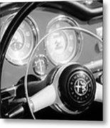1961 Alfa Romeo Giulietta Spider Steering Wheel Emblem -1239bw Metal Print