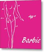 1961 Barbie Doll Patent Art 1 Metal Print