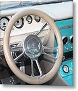 1961 Buick Two Door Sedan Dashboard Metal Print