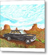 1961 Chevrolet Biscayne 409 In Monument Valley Metal Print