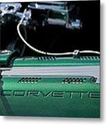 1961 Chevrolet Corvette Engine Metal Print