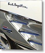 1961 Chevrolet Corvette Side Emblem 3 Metal Print