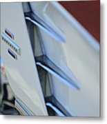 1961 Chevrolet Corvette Side Emblem 4 Metal Print