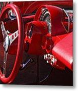 1961 Chevrolet Corvette Steering Wheel Metal Print