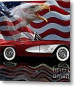 1961 Corvette Tribute Metal Print
