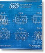 1961 Lego Building Blocks Patent Art 1 Metal Print