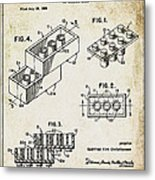 1961 Lego Patent Metal Print