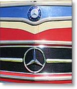 1961 Mercedes-benz Type O321h Bus Grille Emblem Metal Print