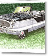 1961 Nash Metro Convertible Metal Print