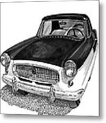 1961 Nash Metro In Black White Metal Print