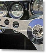 1962 Chevrolet Corvette Convertible Steering Wheel Metal Print