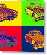 1962 Chevrolet Corvette Pop Art Metal Print