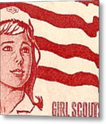 1962 Girl Scouts Of America Postage Stamp Metal Print