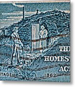 1962 Homestead Act Stamp Metal Print