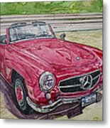 1962 Mercedes Benz 190sl Metal Print