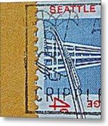 1962 Seattle World's Fair Stamp Metal Print