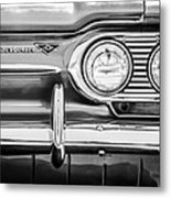 1963 Chevrolet Corvair Monza Spyder Headlight Emblem -0594bw Metal Print