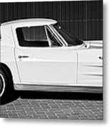 1963 Chevrolet Corvette Split Window -575bw Metal Print