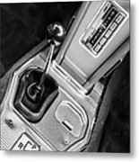 1963 Chevrolet Corvette Split Window Dash -155bw Metal Print
