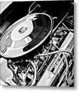 1963 Chevrolet Corvette Split Window Engine -147bw Metal Print