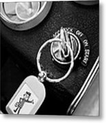 1963 Chevrolet Corvette Split Window - Mr Zip Key Ring -173bw Metal Print