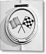 1963 Chevrolet Corvette Split Window - Sting Ray Emblem -257bw Metal Print