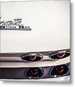 1963 Chevrolet Corvette Split Window Taillight Emblem -458c Metal Print
