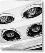 1963 Chevrolet Corvette Split Window Taillights -240bw Metal Print