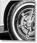 1963 Chevrolet Corvette Split Window Wheel -090bw Metal Print