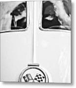 1963 Chevrolet Corvette Split Window Wheel Emblem -118bw Metal Print